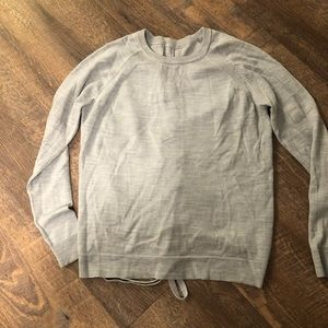 lululemon athletica crossed-tied sweater